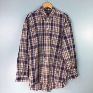Burberry London • Plaid Button Down Shirt Blue XL